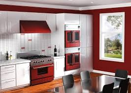 Kitchen With Red Appliances Custom Bluestar Appliances In Wine Red Cooking With Color