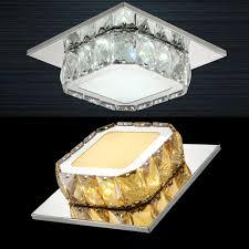 Square Led Ceiling Light Fixture Details About Square Led Crystal Ceiling Light 12w White Amber Aisle Corridor Lamp Fixture
