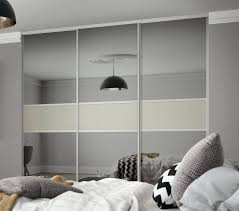 white mirrored wardrobe for splendid classic 3 panel fineline sliding wardrobe doors in grey mirror and soft white glass with silver 76 classic 3 panel