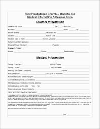 Medical Information Form Template Hipaa Records Release Consent To
