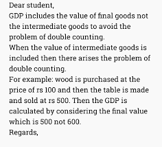 What Is Not Included In Gdp Explain Why Only Value Of Final And Not Intermediate Goods