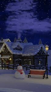 The snowy sidewalks and roofs glisten, the starry sky peeks through the chilly air. Download Christmas Village Live Wallpaper For Android Christmas Village Live Wallpaper Apk Download Steprimo Com