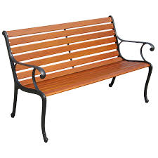 garden treasures 50 in l painted wood patio bench at