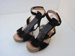 New Pedro Garcia Priscilla Black suede Strap Heel 38 8 | #170289754