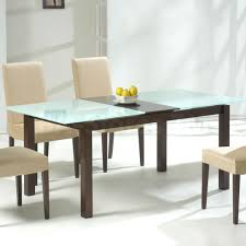 small glass top dining table throughout wooden and on of rectangular with white decor 5
