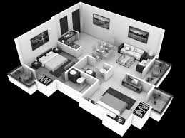 Modern 4 Bedroom House Plans 4 Bedroom 1 Story House Plans 3d Modern Hd