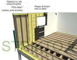 structure mur ossature bois interieur maison bois construire