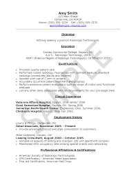 Radiologic Technologist Resume Examples Of Resumes Medical