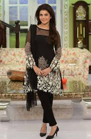 stylish party wear black dresses for indian stani women