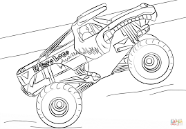 El Toro Loco Monster Truck Coloring Page Free Printable Pages Image