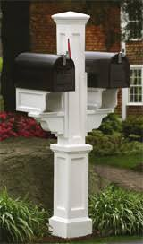 double mailbox post. Rockport Double Mailbox Post O