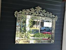 antique wall mirror sets large etched bevel rectangle vanity vintage