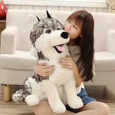 55cm simulation german shepherd plush toy big size siberian husky stuffed doll for children best