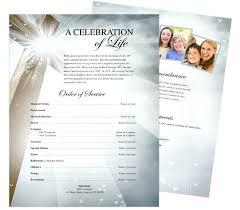 Funeral Flyer Beloved Sheets Template Memorial Benefit