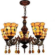Tiffany Style Chandelier, Creative Vintage <b>Colorful</b> Beads Glass <b>Art</b> ...