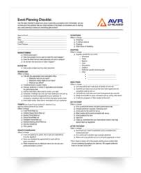 Event Planning Checklist Pdf Event Checklist Free Download From Avr Chicago