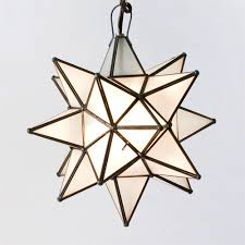 moravian star pendant chandelier large frosted glass by worlds away ags810