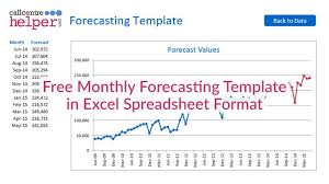 forecast model in excel monthly forecasting excel spreadsheet template