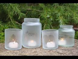 Decorating Jam Jars For Candles DIY Frosted Candle Jars Tutorial YouTube 44