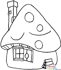 Smurf Coloring Page Smurf House Coloring Pages Papa Smurf Printable