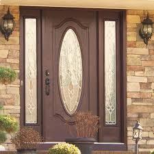 therma tru doors doors dark wood door with oval glass panel patterned glass therma tru therma tru doors entry
