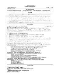 Medical Sales Representative Resume Objective Device Exa Peppapp
