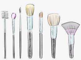 clip library brushes drawing at getdrawings free drawing of makeup brushes transpa png