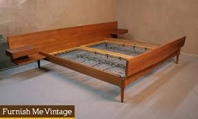 mid century modern king bed. Plain King In Mid Century Modern King Bed U