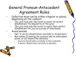 Pronoun Antecedent Agreement Pronoun Antecedent