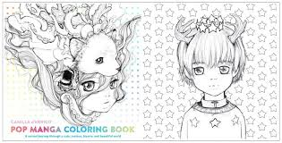pop manga coloring book a surreal journey through a cute curious bizarre