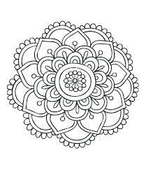 Free Printable Mandala Coloring Pages For Adults Abstract Mandala
