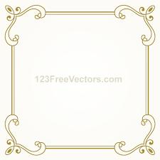 vintage gold frame design