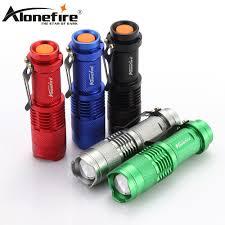 Alonefire <b>SK68 cree xpe q5</b> LED Tactical Flashlight Zoom mini ...