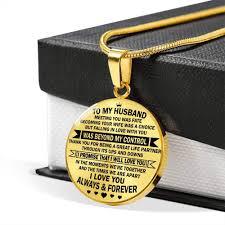 Amazoncom Husband I Love You Always Forever Pendant Necklace Gold