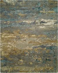 Light Blue And Gold Rug Harounian Rosewood Ro 1427 8x10 Light Blue Gold Rug