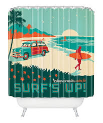 this surfs up shower curtain by deny designs is perfect zulilyfinds