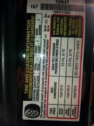 Toyo Tire Pressure Chart Please Help Toyo Mt Proper Inflation Tacoma World