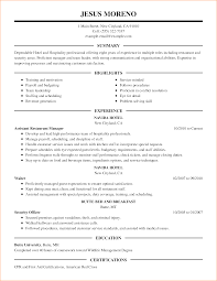 resume hospitality paradochart related for 10 resume hospitality