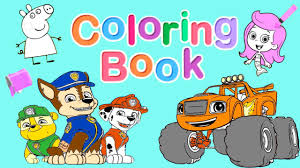 Small Picture Nick Jr Coloring Book Pt 1 Blaze PAW Patrol Dora and Friends