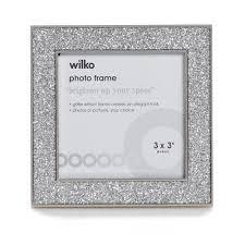 Wilko Glitter Photo Frame 3 x 3in