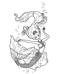 Free Mermaid Coloring Pages Free Mermaid Coloring Pages Mermaid
