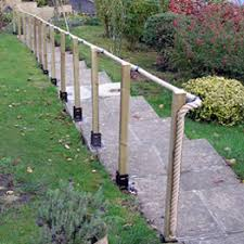 garden walkway rope in p o s h with wrought ironings