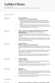 Social Researcher Sample Resume
