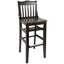bar stools wooden schoolhouse wood bar stool dark mahogany finish with a wood seat rustic wooden bar stools wooden