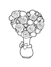 Small Picture Coloring Pages Of Flower Heart Coloring Pages