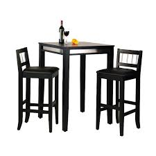 home styles manhattan black pub table set with stainless steel a 3 pc set with 2 stools hayneedle