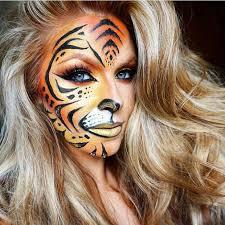 fierce tiger print for cute makeup ideas