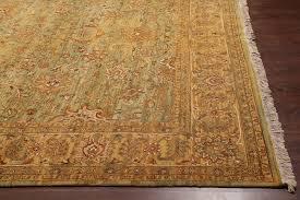 rugsville oushak green light gold wool rug 9 x 12