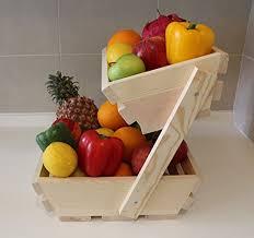 Wooden Fruit Display Stands Inspiration Amazon Fruit Basket Stand Premium 32 Tier Wooden Display Rack