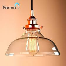 glass pendant lights modern inch pendant lights vintage clear glass pendant ceiling lamps industrial loft glass
